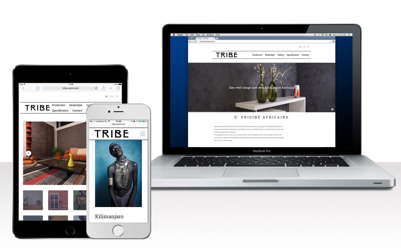 Ontwerp website Tribe Paint